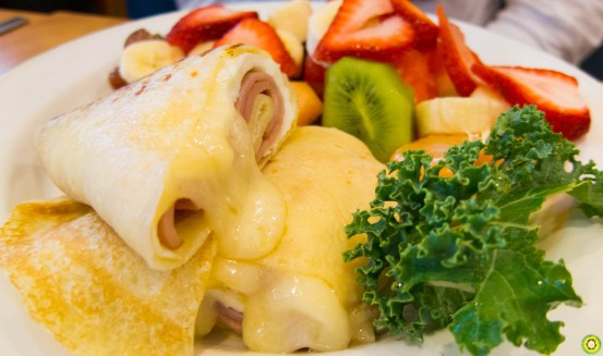 Ham & Swiss Crepes