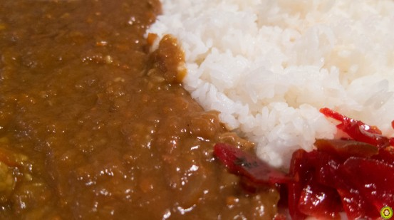 Japanese Curry on Rice Upclose