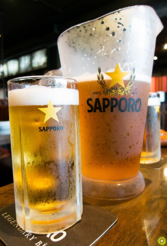 Pitcher of Sapporo Beer