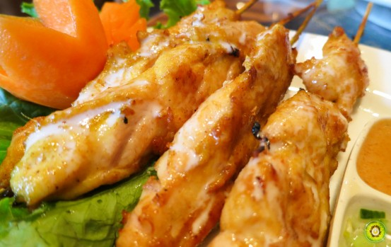 Chicken Satay Upclose
