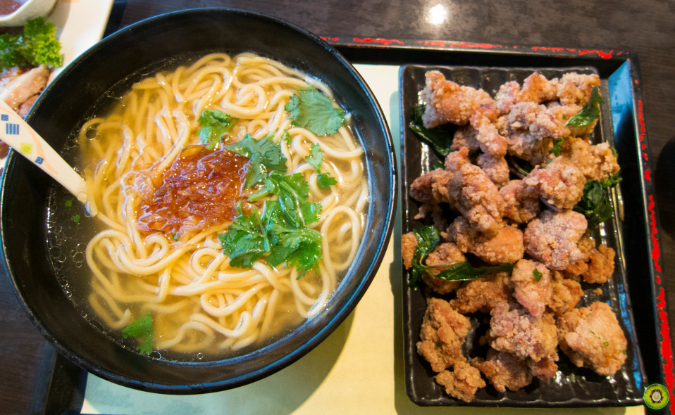 Noodles in Soup w/ Deep Fried Chicken Nuggets