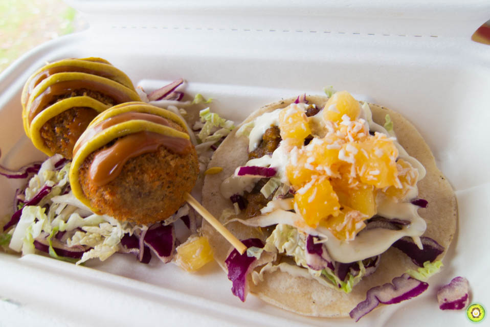 """Spicy Malaysian """"Debil"""" Chicken Taco and Fried Rice Balls"""