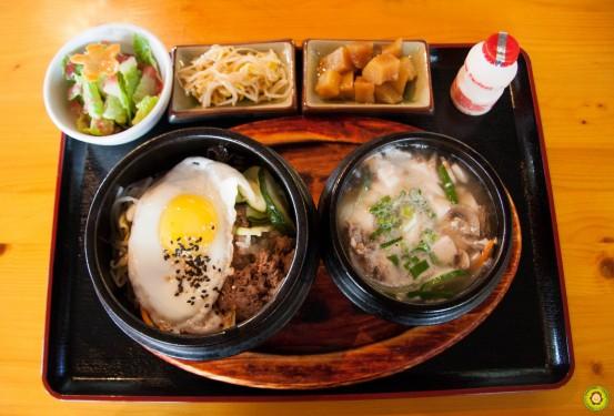 Bibimbap + Tofu Soup