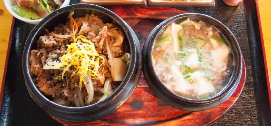 Beef Bulgogi + Tofu Soup