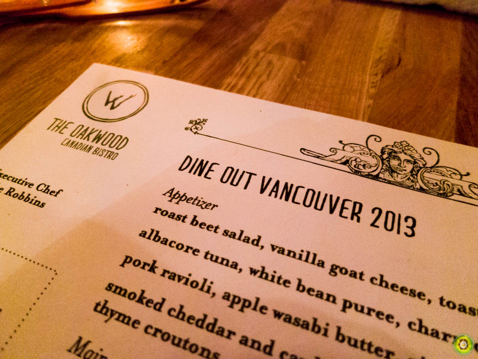 The Oakwood - Dine Out Vancouver