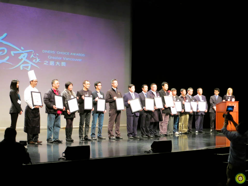 Winners of the 2013 Chinese Restaurant Awards