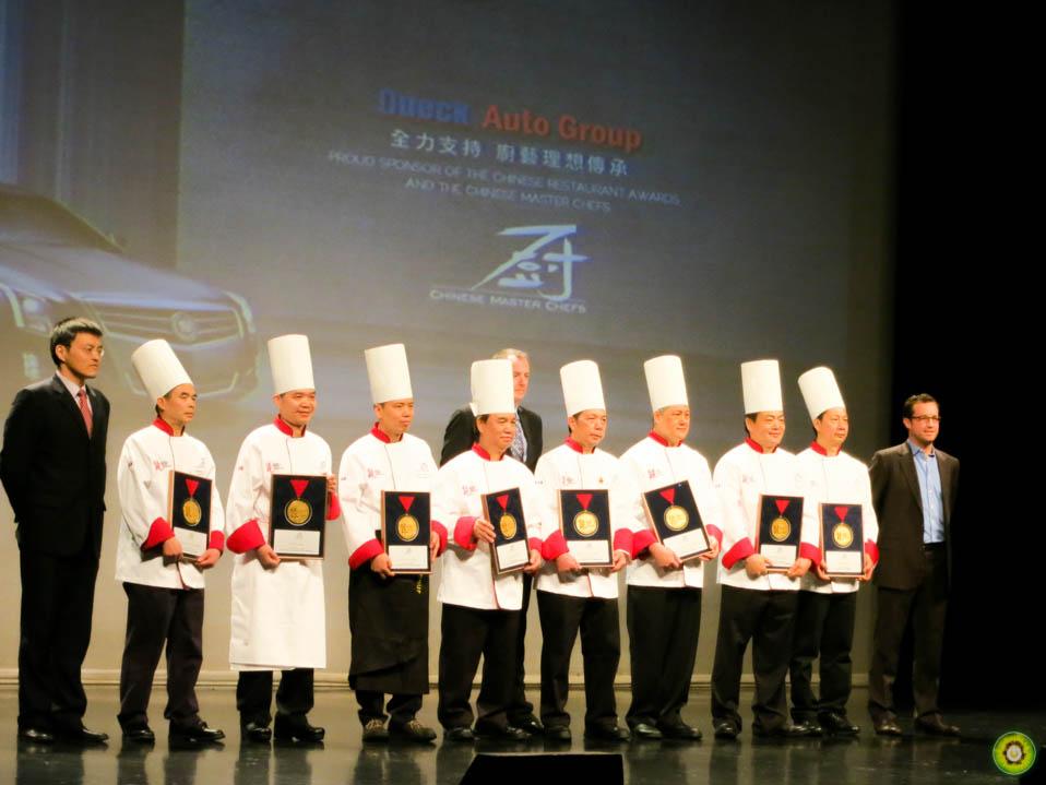 Winners of the 2013 Chinese Restaurant Awards