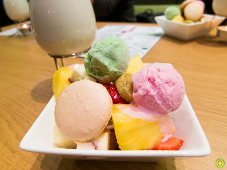 Assorted Fruits, Baked Goods & Ice Cream Truffles
