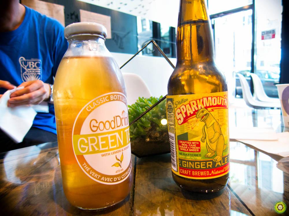 SPARKMOUTH Ginger Ale & GoodDrink Green Tea