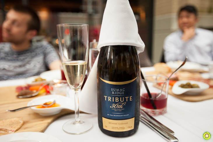 Sumac Ridge Tribute Brut wine from Okanagan Valley, BC